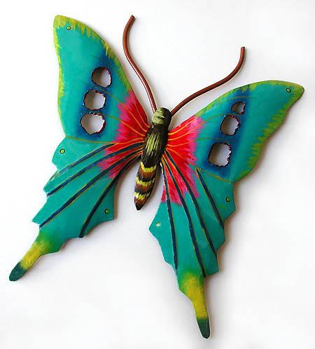 Hand Painted Butterflies Butterfly Wall Art Metal Wall Decor Butterfly Metal Art