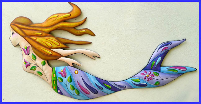 Decorative Metal Mermaid Wall Decor