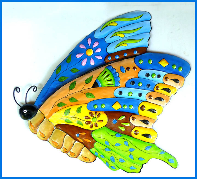 Erfly Decor Painted Metal