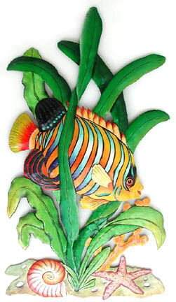 Tropical Fish Wall Decor Handcrafted